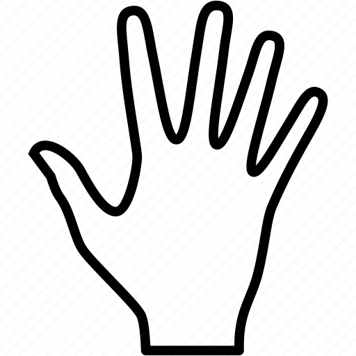 finger, fingers, gesture, hand, palm, touch icon