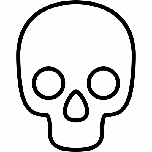 bones, danger, dead, death, halloween, scary, skull icon