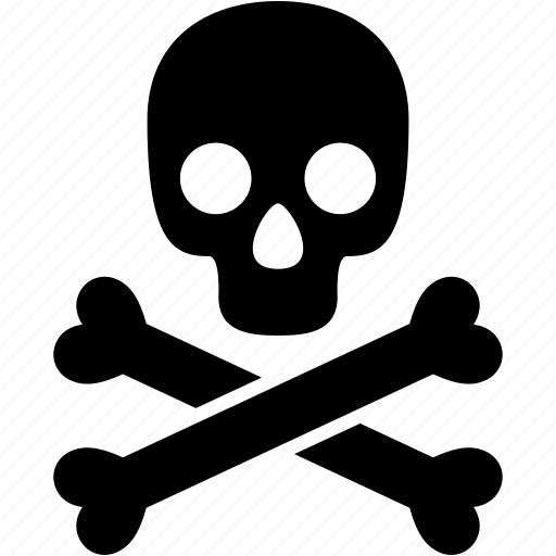 bones, danger, dead, death, halloween, scary, skull icon