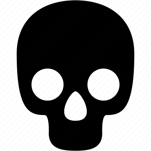 attention, bones, danger, dead, death, skeleton, skull icon