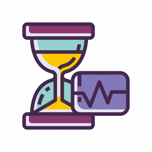 frequency, hourglass, sand clock, time icon