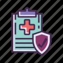 diagnose, diagnostic, diagnostics, health, insurance, medical, record icon