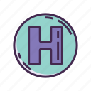 h, healthcare, hospital icon