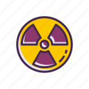 bioweapon, nuclear, radioactive icon