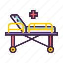 bed, hospital bed, stretcher icon