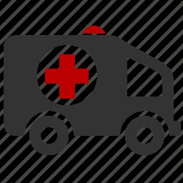 aid, ambulance, car, first help icon