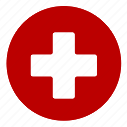 aid, cross, first help, red cross icon