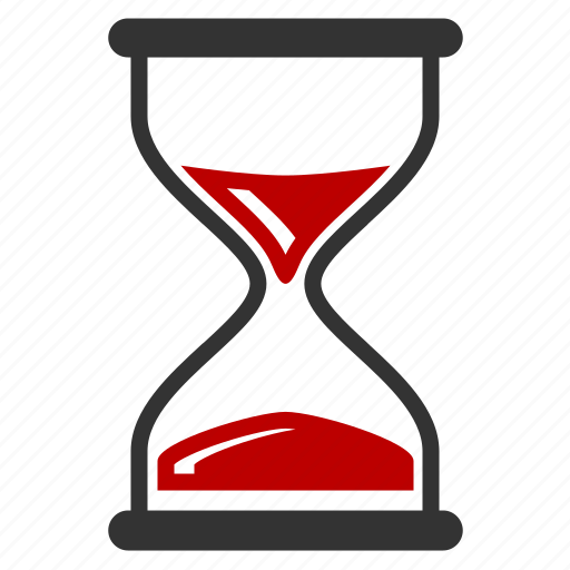 hourglass, sandclock, schedule, time management icon