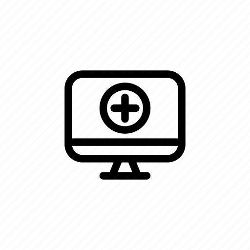 computer, desktop, hospital, medicine, monitor, pc, screen icon
