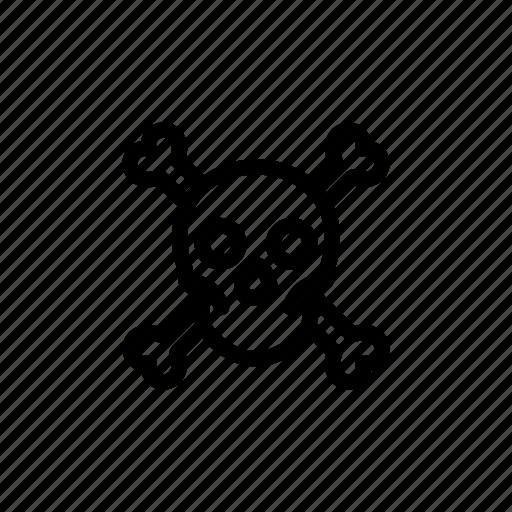 bones, death, pirate, poison, skeleton, skull, toxic icon