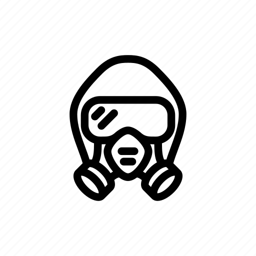 biohazard, biohazard suit, epidemic, mask, protection, suit, virus icon