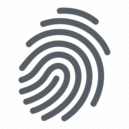 access, biometric, crime, fingerprint, identity, security icon