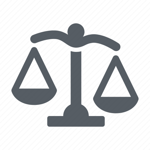 balance, justice, law, scale, weight icon