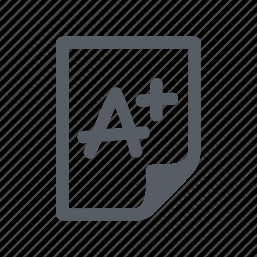 education, grade, school, student, test icon