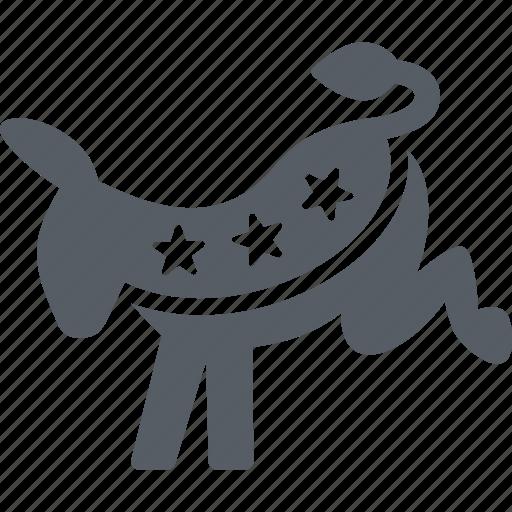 democratic, donkey, election, party, politics, usa icon