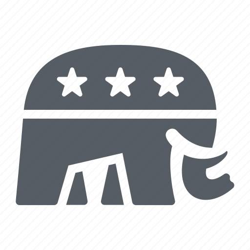 Election, elephant, party, politics, republican, usa icon - Download on Iconfinder