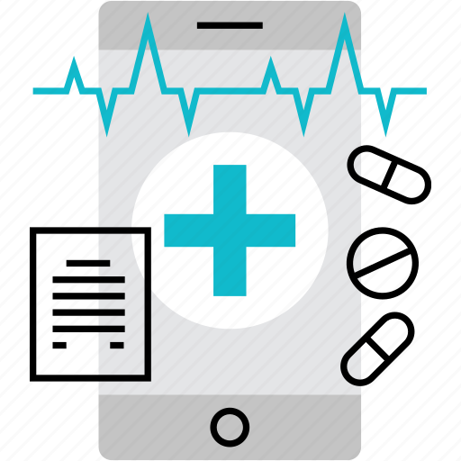 application, health, healthcare, medical, mhealth, mobile, report icon