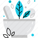 alternative, herbal, herbs, homeopathy, medication, medicine, mortar icon