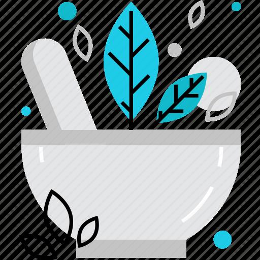 alternative, herbal, herbs, homeopathy, medication, medicine, mortar icon
