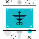 examination, radiograph, roentgen, rontgen, skiagram, ultrasonography, xray icon