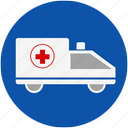 ambulance, doctor, emergency, hospital, medical, nurse, vehicle icon