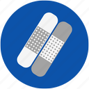 bandage, bandaid, cover, health, hospital, medical, patch, plaster, treatment, wound icon