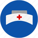 cap, care, hospital, medical, nurse icon