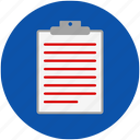 clipboard, doctor, hospital, medical, note, nurse, paper, patient, record, write icon