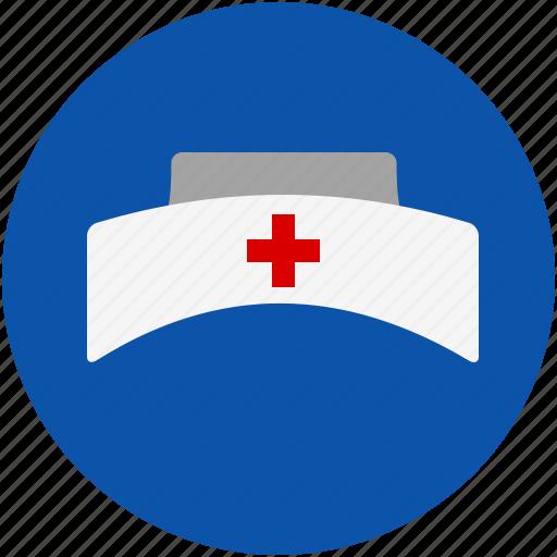 cap, care, hospital, medical, nurse icon