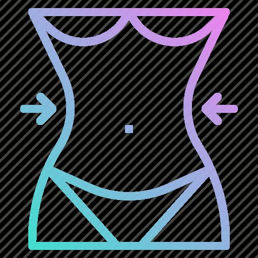 Body, parts, reduce, slim, waist icon - Download on Iconfinder