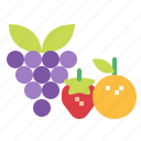 food, fruits, vegan icon
