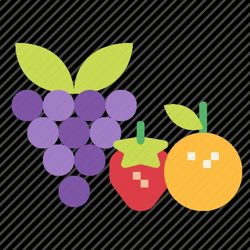 food, fruits, vegan icon