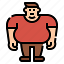 bmi, fat, man, obesity, overweight icon