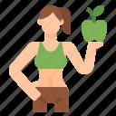diet, loss, shape, slim, weight, women icon