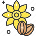 crops, seed, seeds, sunflower icon