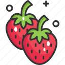 diet, food, fruit, strawberries, strawberry icon