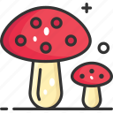 diet, healthy food, mushroom, organic, vegan icon