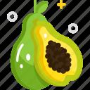 fruit, healthy food, organic, papaya, vegan