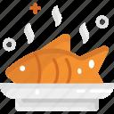 fish, food, healthy, healthy food, salmon icon