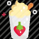drink, health, healthy, strawberry, yogurt