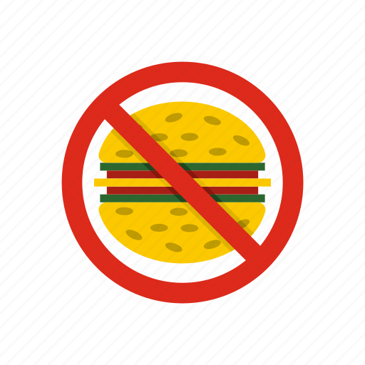 Fast, food, forbidden, hamburger, meal, no, stop icon - Download on Iconfinder