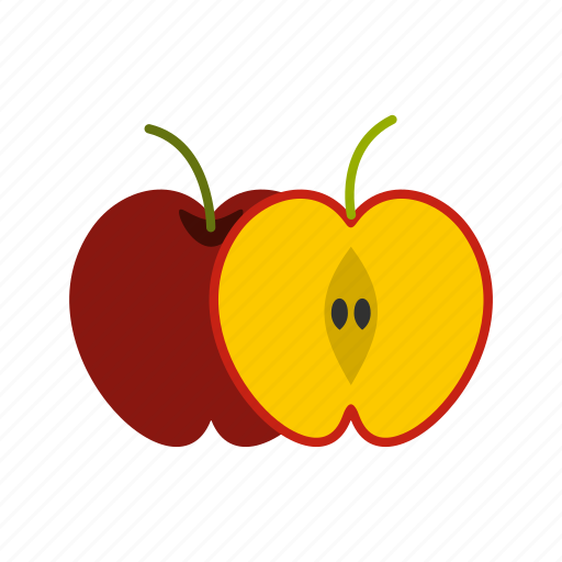 Apple, food, fruit, half, healthy, juicy, vegetarian icon - Download on Iconfinder
