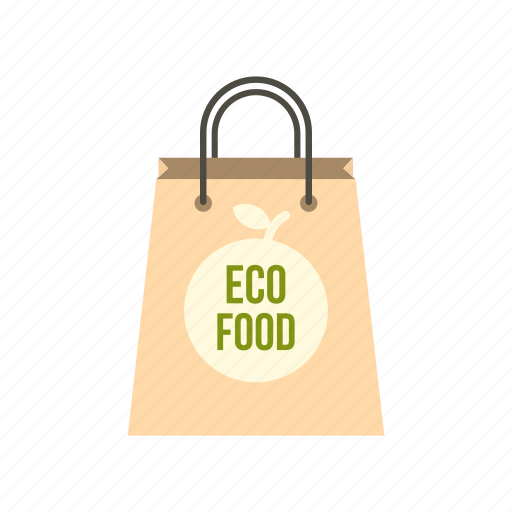 bag, eco, food, fresh, package, paper, retail icon