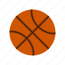 basketball, basket, equipment, game, ball, orange, sport