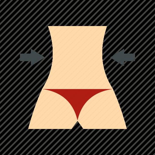 abdomen, body, female, healthy, hip, slim, waist icon