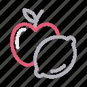 apple, food, fruit, healthylife, lemon