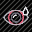 dose, drop, eye, eyedropper, medical icon