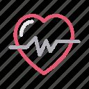 beats, health, heart, life, pulses icon