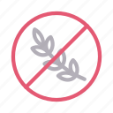 block, notallowed, restrict, stop, wheat icon