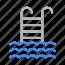 pool, sport, stair, swimming, water